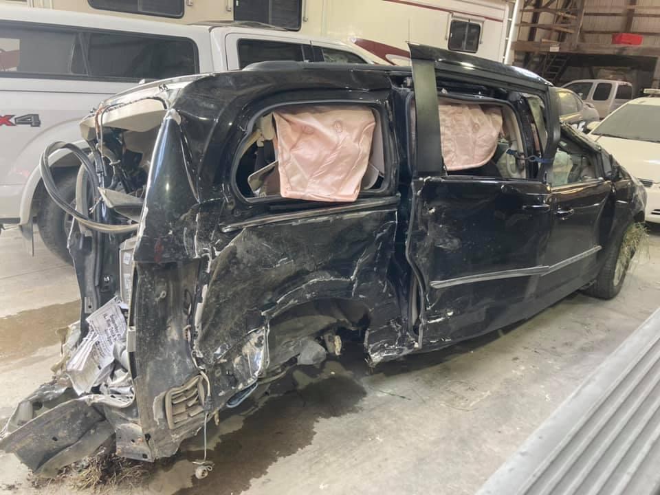 LeaAnn Klaas' van after the wreck