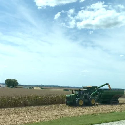 Fall harvest started for some Pike County farmers last week. The harvest was underway last Thursday, along Route 96 near Rockport. Pike-Scott Farm Bureau Director Kim Curry says he anticipates a good soybean and corn harvest in Pike and Scott counties. Curry also reported that prices remain high. (David Camphouse/Pike Press)